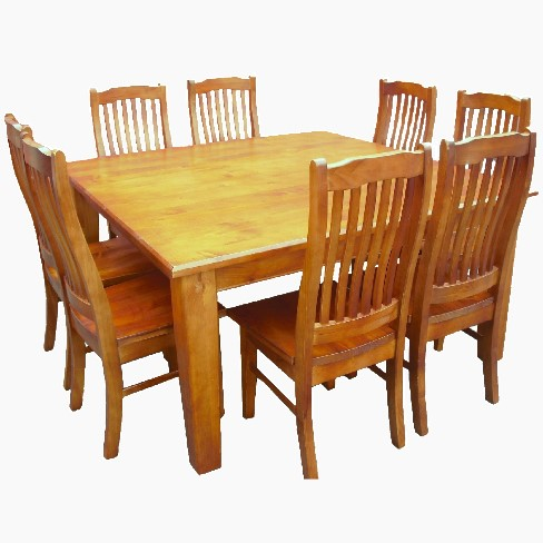 solid nz pine 9-piece dining