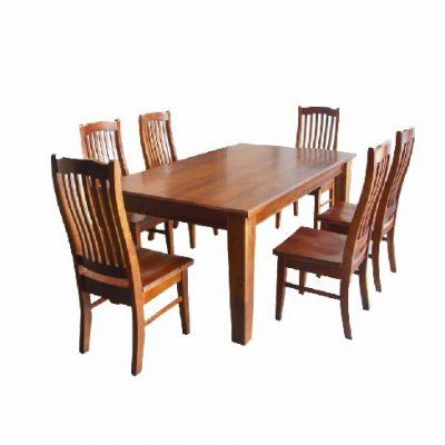 solid nz pine 7-piece dining