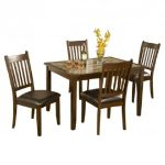 mission 5pc marble top dining