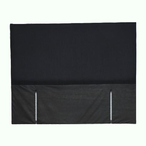 basic black headboard